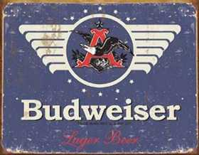 Nostalgic Images BD-1383 Budweiser 1936 Logo Metal Sign