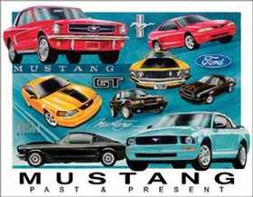 Nostalgic Images TD-1272 Ford Mustang Chronology Metal Sign