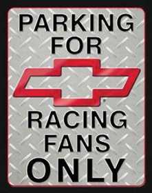Nostalgic Images TD-1078 Parking For Chevrolet Racing Fans Only Metal Sign
