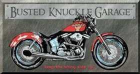 Nostalgic Images TD-1165 Busted Knuckle Garage Bike Metal Sign