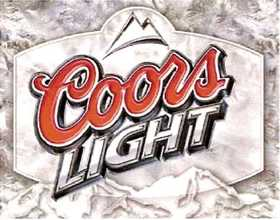 Nostalgic Images BD-1310 Coors Light Frosted Metal Sign