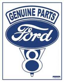 Nostalgic Images T-11 Ford V-8 Logo Metal Sign