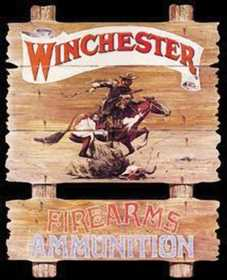 Nostalgic Images OD-939 Winchester Ammunition Express Rider Metal Sign