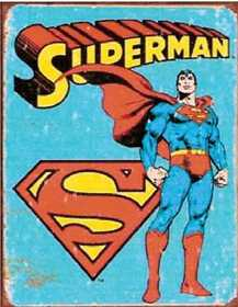 Nostalgic Images PD-1335 Superman Retro Metal Sign