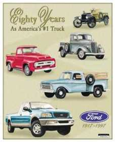 Nostalgic Images TD-712 Ford Trucks Eighty Years Metal Sign