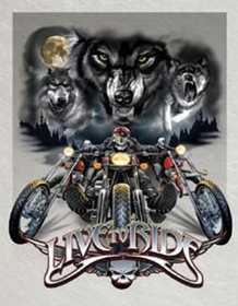 Nostalgic Images TD-1442 Live To Ride Wolves Metal Sign