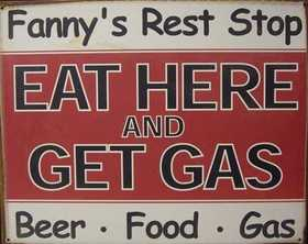 Nostalgic Images CG-529 Eat Here And Get Gas Metal Sign