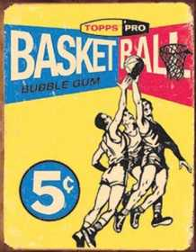 Nostalgic Images SD-1405 Topps Basketball Metal Sign