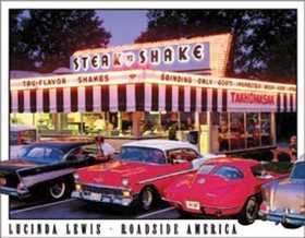 Nostalgic Images TD-1478 Lewis Steak N Shake Metal Sign