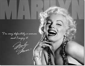 Nostalgic Images PD-1532 Marilyn Monroe Definitely Metal Sign