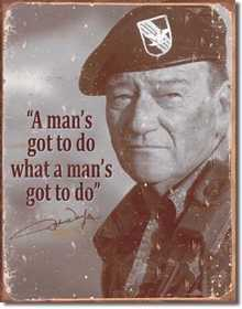 Nostalgic Images PD-1495 John Wayne Metal Sign
