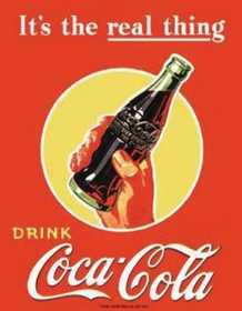 Nostalgic Images CC-1053 Coca-Cola It's The Real Thing Metal Sign