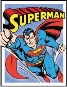 Nostalgic Images PD-1402 Superman Retro Panel Metal Sign