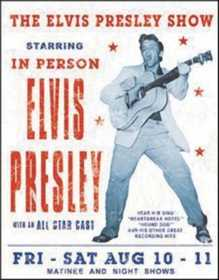 Nostalgic Images PD-1197 Elvis Presley Show Metal Sign