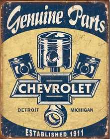 Nostalgic Images TD-1722 Chevrolet Genuine Parts Metal Sign