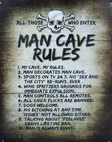 Nostalgic Images CG-761 Man Cave Rules Metal Sign