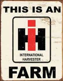 Nostalgic Images TD-1279 International Harvester Farm Metal Sign