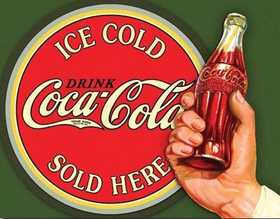 Nostalgic Images CC-1625 Coca-Cola Ice Cold Metal Sign