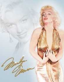 Nostalgic Images PD-1656 Marilyn Monroe Gold Dress Metal Sign