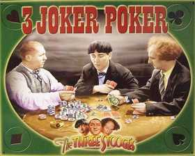 Nostalgic Images PG-740 The Three Stooges 3 Joker Poker Metal Sign