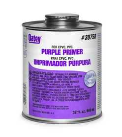 Oatey 30756 Primer Purple 8 oz Nsf Listed