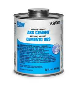 Oatey 30889 Cement For Abs Black 8 oz