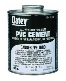 Oatey 31132 Pvc Cement All Weather Fast Set 16 oz