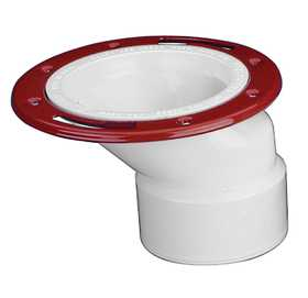 Oatey 43804 PVC Offset Closet Flange With Metal Ring 3/4 in