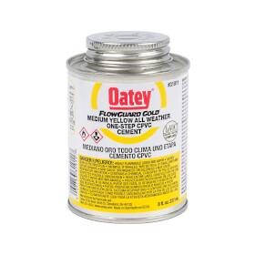 Oatey 31911 Medium Yellow All-Weather One-Step CPVC Cement, 8 Oz