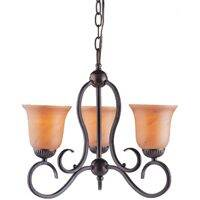 Boston Harbor A2240-5 3-Lite Chandelier Ant. Bronze