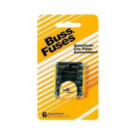 Bussmann Fuses UK-6 Amber Auto Fuse Assortment