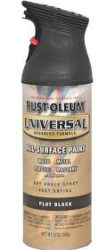 Rust-Oleum 245198 Universal Topcoat Spray Paint 12 oz Flat Black