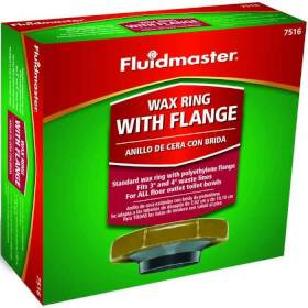 Fluidmaster 7516 Toilet Bowl Wax Ring W Flange