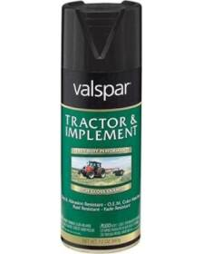 Valspar 5339-16 Interior/Exterior Tractor And Implement Enamel Spray Paint Gloss Black High-Gloss Finish 12-Ounce Can