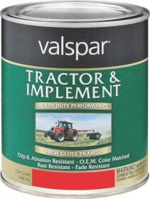 Valspar 4432-20 Tractor And Implement Enamel Paint Ford Red 1 Qt