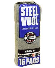 Homax Group 106604-06 Medium Steel Wool #1