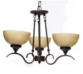 Boston Harbor S-12-3C Noble Bronze 3light Chandelier