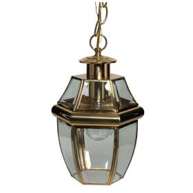 Boston Harbor 8067H-PB 1-Light Polished Brass Hanging Lantern