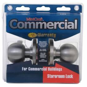MintCraft C365BV Storeroom Knob Gr2 Stainless Steel Visual Pack