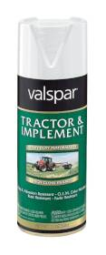 Valspar 5339-14 Tractor And Implement Enamel Spray Gloss White 12 oz