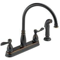 Delta Faucet 21996LF-OB Two Handle Kitchen Faucet