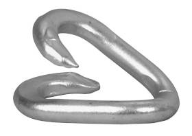 Campbell Chain T5950724 5/16 In X 1-1/2 In Zinc Plated Steel Repair Chain Link