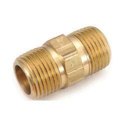 Anderson Metal 1866979 Hex Nipple Brass 1/4mpt