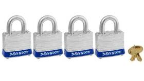 Master Lock 3008D 1-1/2 in Padlock 4-Pack Keyed Alike