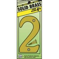 Hy-ko Products 0251009 4 in #2 Brass House Number