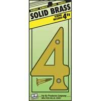 Hy-ko Products 0251132 4 in #4 Brass House Number