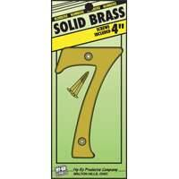 Hy-ko Products 0251199 4 in #7 Brass House Number