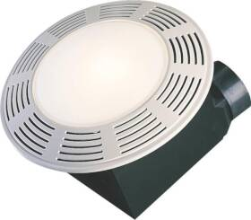 Air King America AK863L Exhaust Fan With Light Powdered Coated