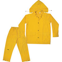 Custom Leathercraft R1022X Yellow Polyester 3 Pc Suit-2xl
