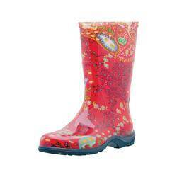 SLOGGERS 4272779 Tall Boot Paisley Red Size 7